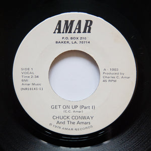 "CHUCK CONWAY "" Get On Up"" CLASSIC AMAR 70s DISCO FUNK 7"""