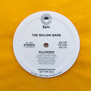 "THE WILLOW BAND ""Willowman"" RARE COSMIC DISCO REISSUE 12"" YELLOW VINYL"