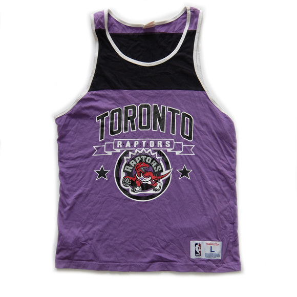 Toronto Raptors ~ Mitchell & Ness ~ Rare Vintage NBA Basketball Streetwear Sleeveless Tank Top Jersey (Large)