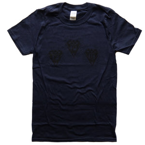 "Peoples Potential Unlimited ""Lo-Vis"" Logo T-Shirt Ppu Navy"