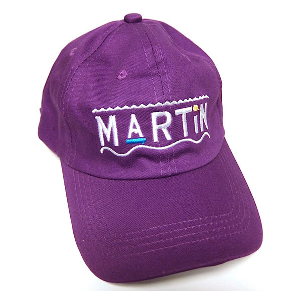 Martin ~ Purple ~ Rare 90S Y2K Hip-Hop Tv Show Logo Dad Cap Hat