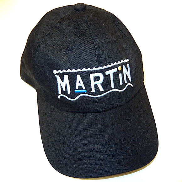 MARTIN ~ Black ~ RARE 90s Y2K HIP-HOP TV SHOW LOGO DAD CAP HAT