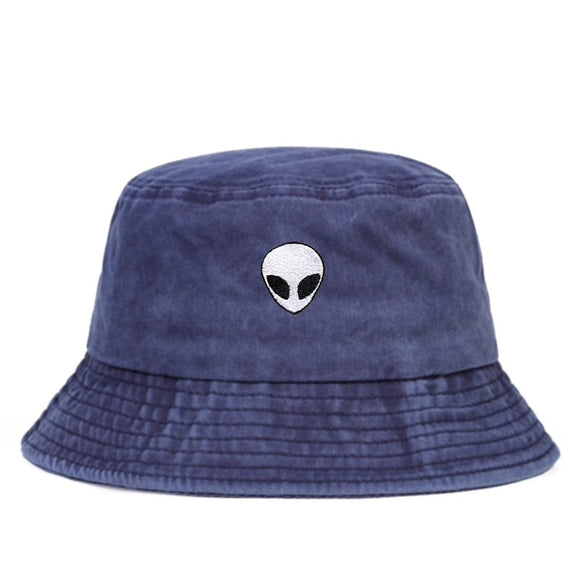 FADED Alien Bucket Hat 90s RAVE Club Wear Outer Space X-Files Abduction
