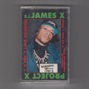"D.J. JAMES X ‎""Project X"" MEGA RARE PRIVATE PRESS GINUWINE RANDOM RAP HIP-HOP CASSETTE"