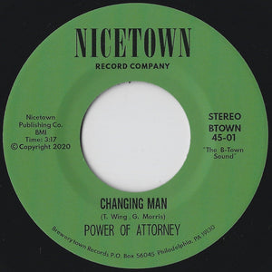 "Power Of Attorney ""Changing Man / I'm Just Your Clown"" NORTHERN SOUL DISCO REISSUE 7"""