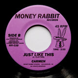"CARMEN ""Just Like This"" MODERN FUNK SYNTH BOOGIE 7"""