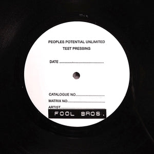 "THE FOOL BROS. ""Suicide Squeeze"" PPU-089 MODERN SOUL AOR TEST PRESS 12"" EP"