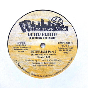 "PETER BRITTO ""Interjam (Remix)"" RARE PRIVATE PRESS DANCEHALL HOUSE 12"""