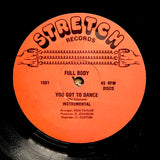 "FULL BODY ""You Got To Dance"" RARE SYNTH BOOGIE DISCO REISSUE 12"""
