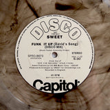 "SWEET ""Funk It Up"" RARE COSMIC DISCO FUNK SMOKE COLOR VINYL REISSUE 12"""