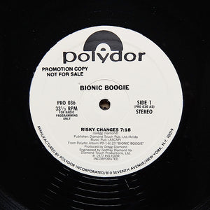 "BIONIC BOOGIE ""Risky Changes"" RARE SOUL DISCO PROMO REISSUE 12"""