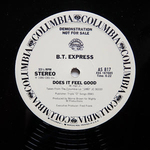 "B.T. EXPRESS ""Does It Feel Good"" DISCO BOOGIE FUNK PROMO REISSUE 12"""