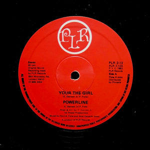 "POWERLINE ""Your The Girl"" PRIVATE ITALO BOOGIE REISSUE 12"""