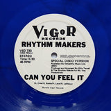 "RHYTHM MAKERS ""Can You Feel It / Zone"" COSMIC DISCO FUNK HOLY GRAIL REISSUE (Blue) 12"""