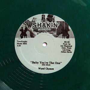 "WYND CHYMES ""Baby You're The One"" PRIVATE BOOGIE FUNK REISSUE 12"" GREEN VINYL"