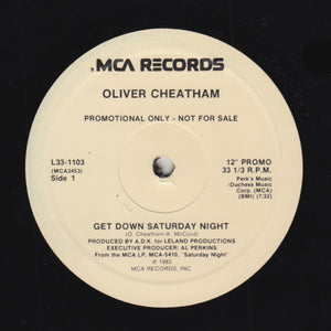 "OLIVER CHEATHAM ""Get Down Saturday Night"" CLASSIC 80s BOOGIE FUNK REISSUE 12"""