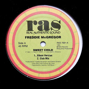 "FREDDIE McGREGOR ""Sweet Child"" RARE DIGI DANCEHALL DUB REGGAE SOUL 12"""