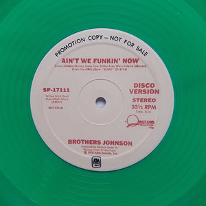 "The Brothers Johnson ""Stomp! / Ain't We Funkin' Now"" DISCO BOOGIE GREEN VINYL REISSUE 12"""