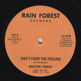 "MASTER FORCE ""Don't Fight The Feeling / Hey Girl"" MODERN SOUL DISCO REISSUE 12"""