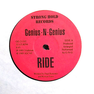 "GENIUS-N-GENIUS ""Ride"" UTRA RARE PRIVATE PRESS DC GO-GO FUNK RANDOM RAP 12"""