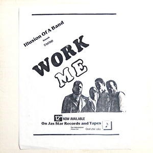 "ILLUSION OF A BAND ""Work Me"" PRIVATE BOOGIE PROTO HOUSE 12"""