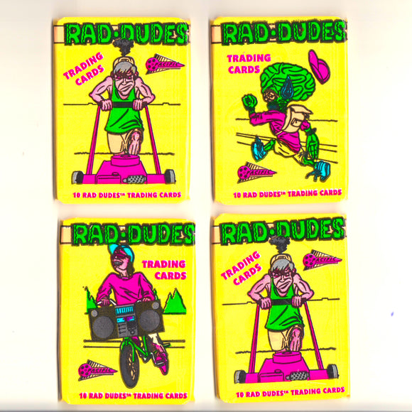 RAD DUDES • OFFENSIVE CALI CULTURE • TRADING CARDS (1990)