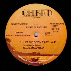 "RARE PLEASURE ""Let Me Down Easy"" MODERN SOUL DISCO FUNK REISSUE 12"""