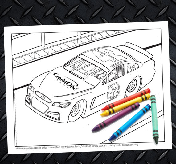 """Kyle Loves Racing"" Coloring Giveaway"