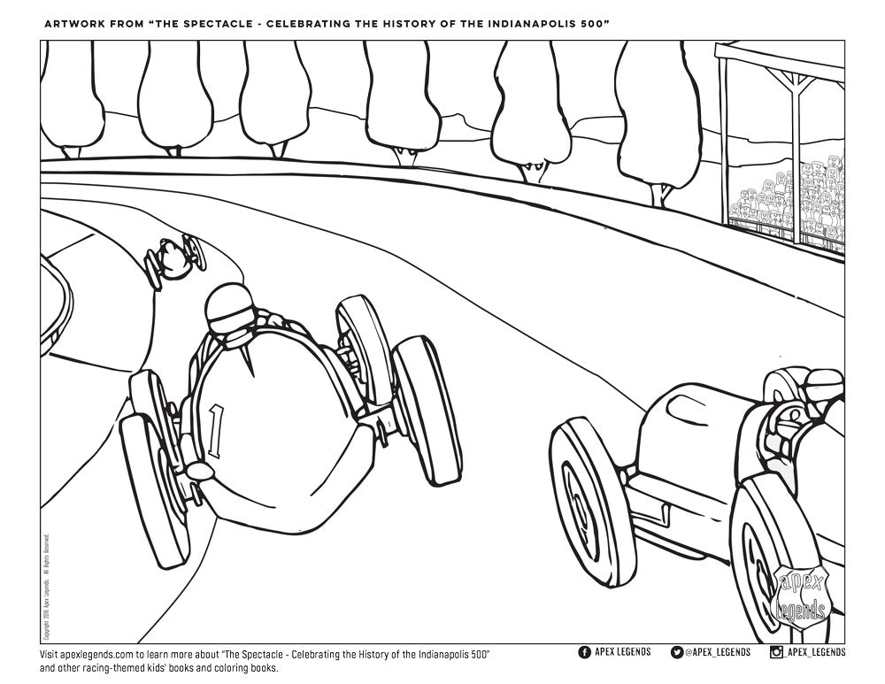 Coloring Book Page - 1939 Maserati Shaw - Apex Legends Store