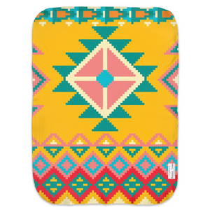 Open image in slideshow, AZTEC #1 • SWADDLE BLANKET