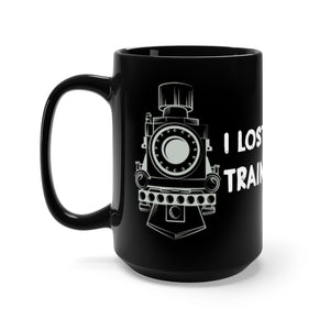 Open image in slideshow, TRAIN OF THOUGHT • BLACK MUG