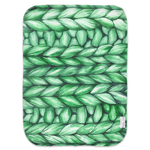 Open image in slideshow, GREEN KNIT • SWADDLE BLANKET