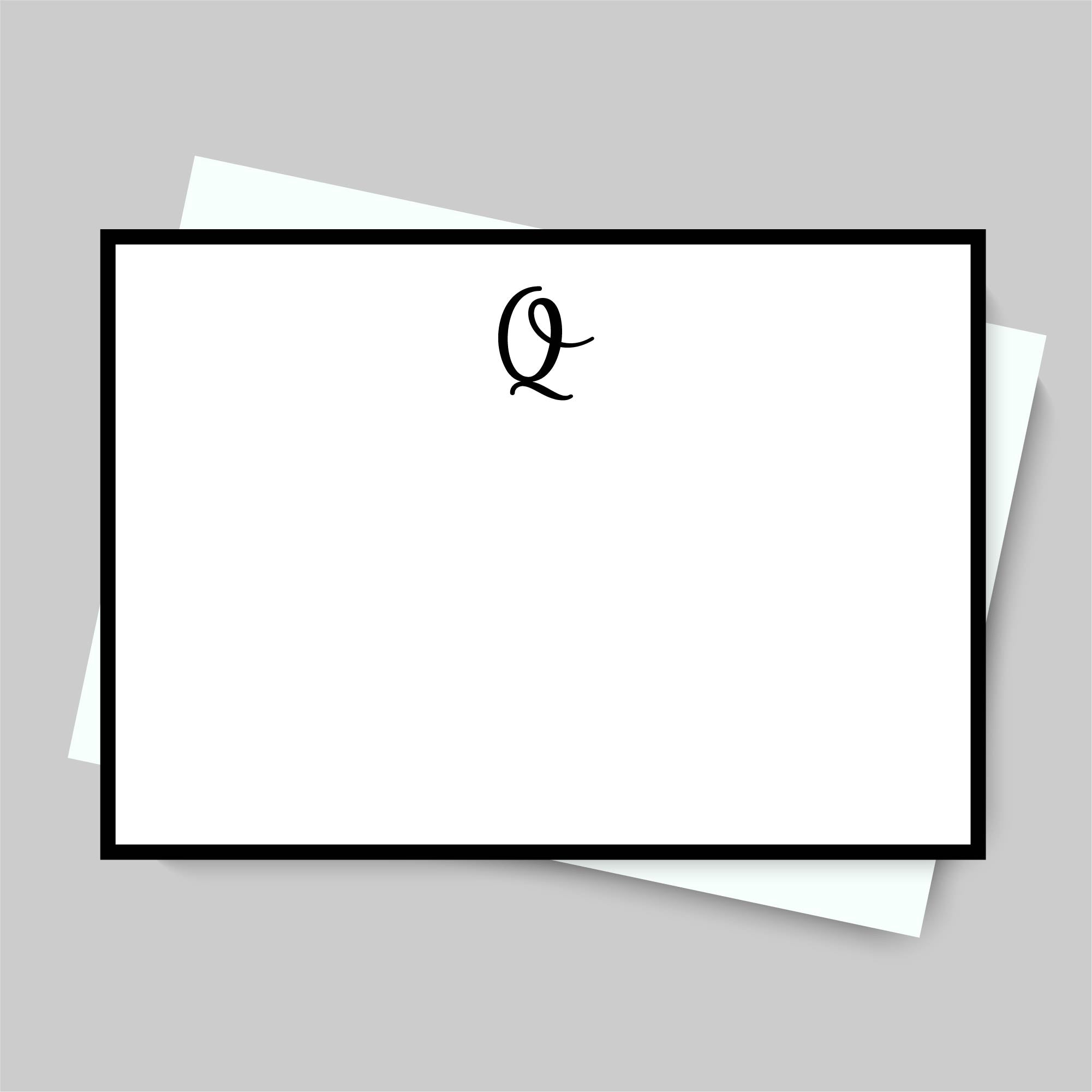 MONOGRAM NOTECARD SET