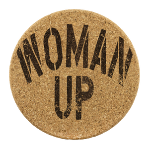 Open image in slideshow, WOMAN UP • CORK COASTERS