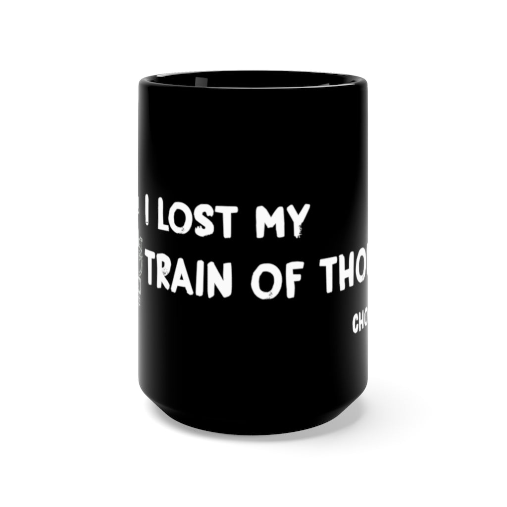 TRAIN OF THOUGHT • BLACK MUG