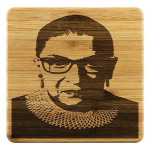 Open image in slideshow, RBG • BAMBOO COASTERS