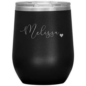 Open image in slideshow, PERSONALIZED (WEDDING) • WINE TUMBLER