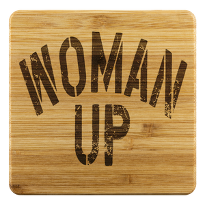 Open image in slideshow, WOMAN UP • BAMBOO COASTERS