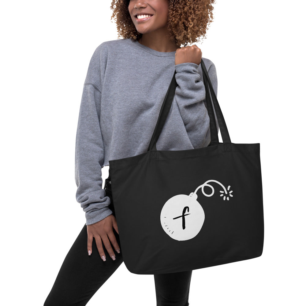F Bomb • Oversized Tote Bag