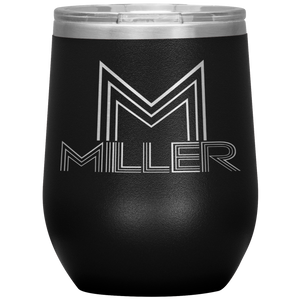 Open image in slideshow, PERSONALIZE (LAST NAME) • WINE TUMBLER