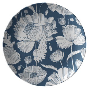 Open image in slideshow, BLUE POPPY • PLATE