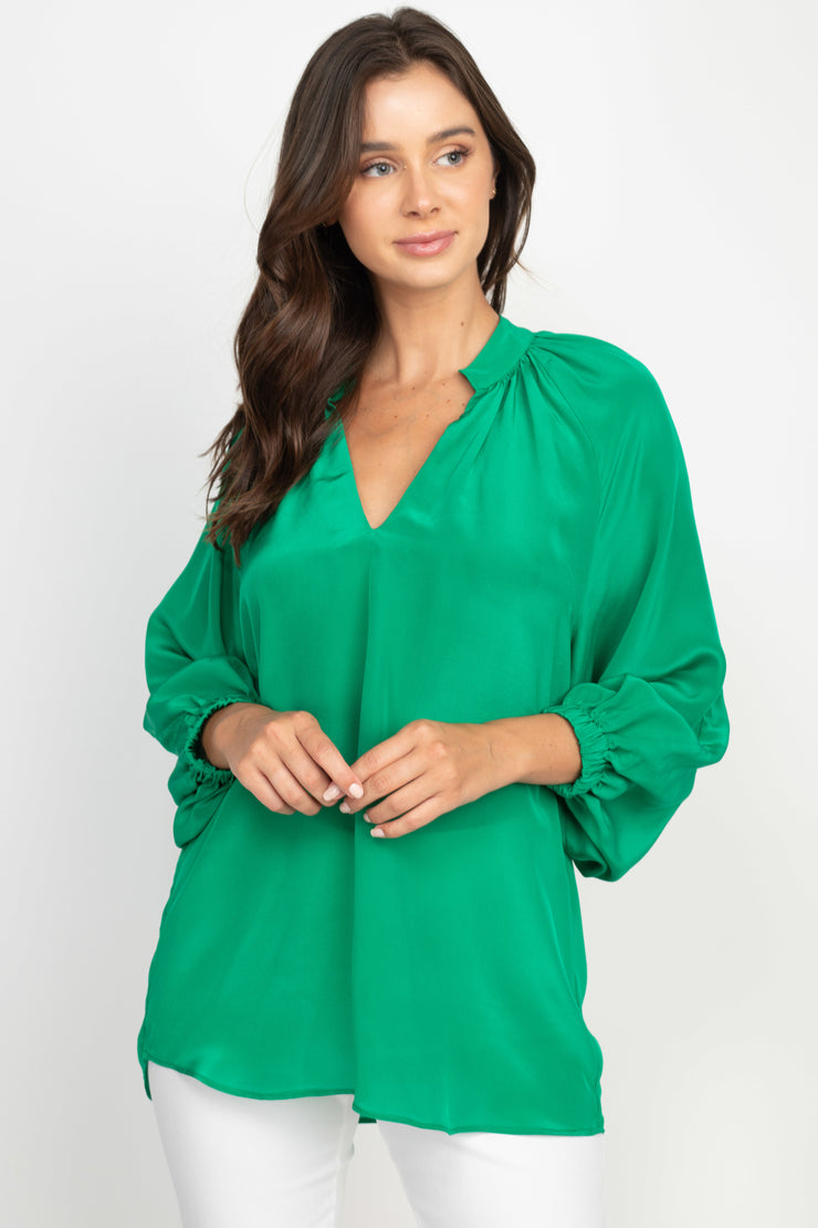 Ana Ocean Green Top