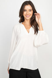 Ana Long Sleeve Cream Top