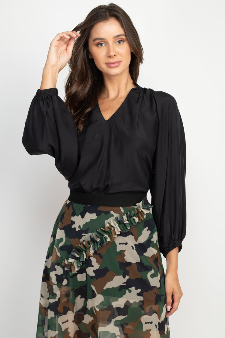 Anna Long Sleeve Silk Blouse