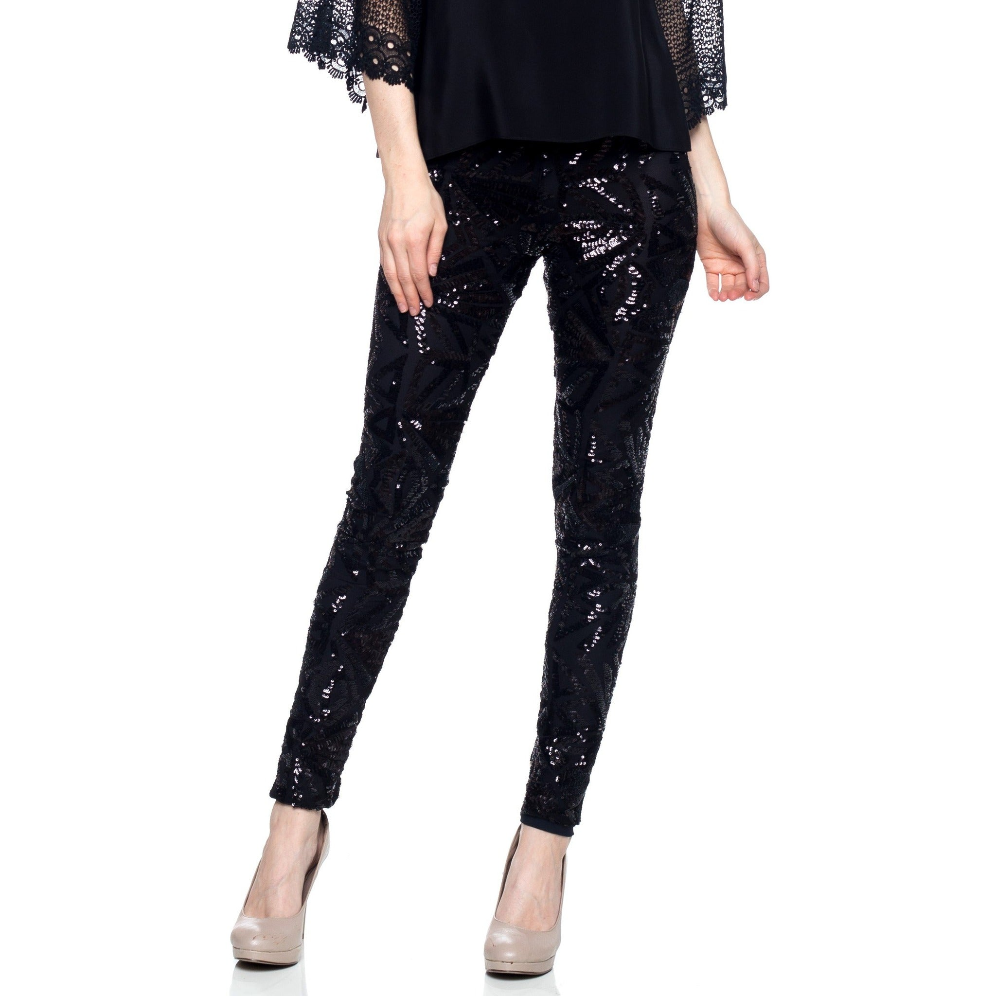The very stylish 4 way stretch premium sequin leggings.   fully lined for a soft comfortable feel