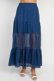 Stella Blue Maxi Skirt
