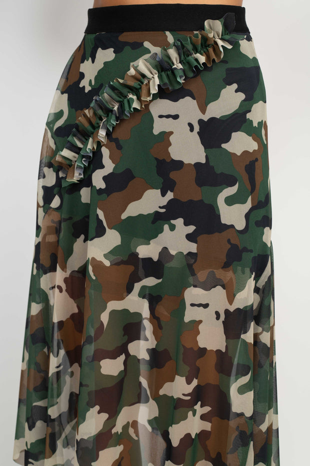 Stephanie Camo Skirt