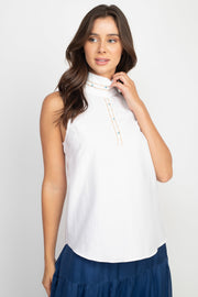 Veronica Sleeveless White Top