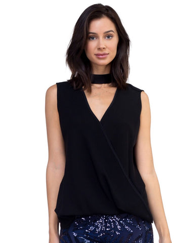 Rebecca - Crepe And Silk Cropped Top
