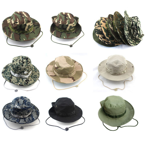 Bucket Hat with Adjustable Cord and Wide Brim> LIMIT 5